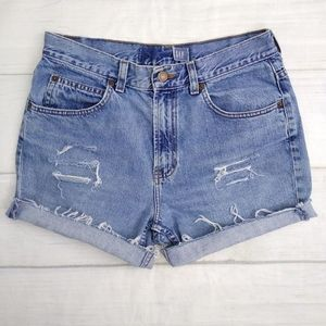 Vintage 90's Gap High Waisted Distressed Shorts 29
